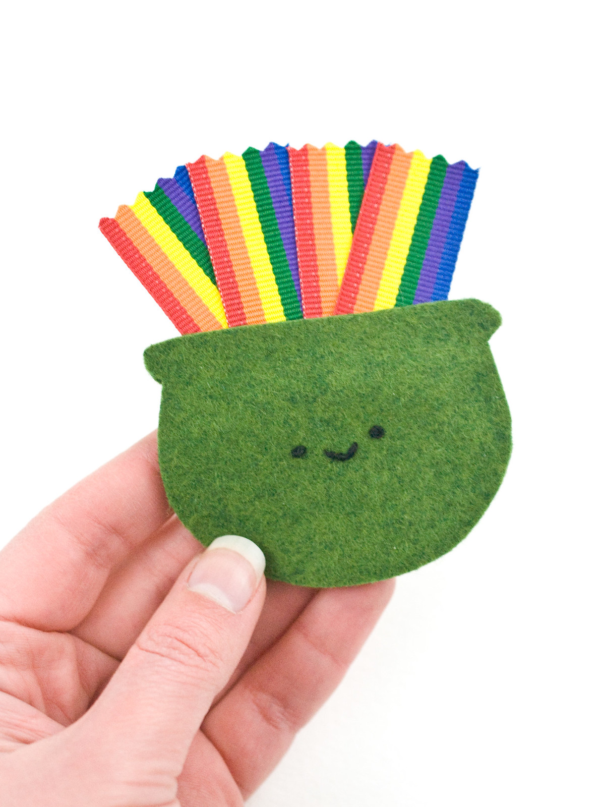 End of the Rainbow Felt Charm
