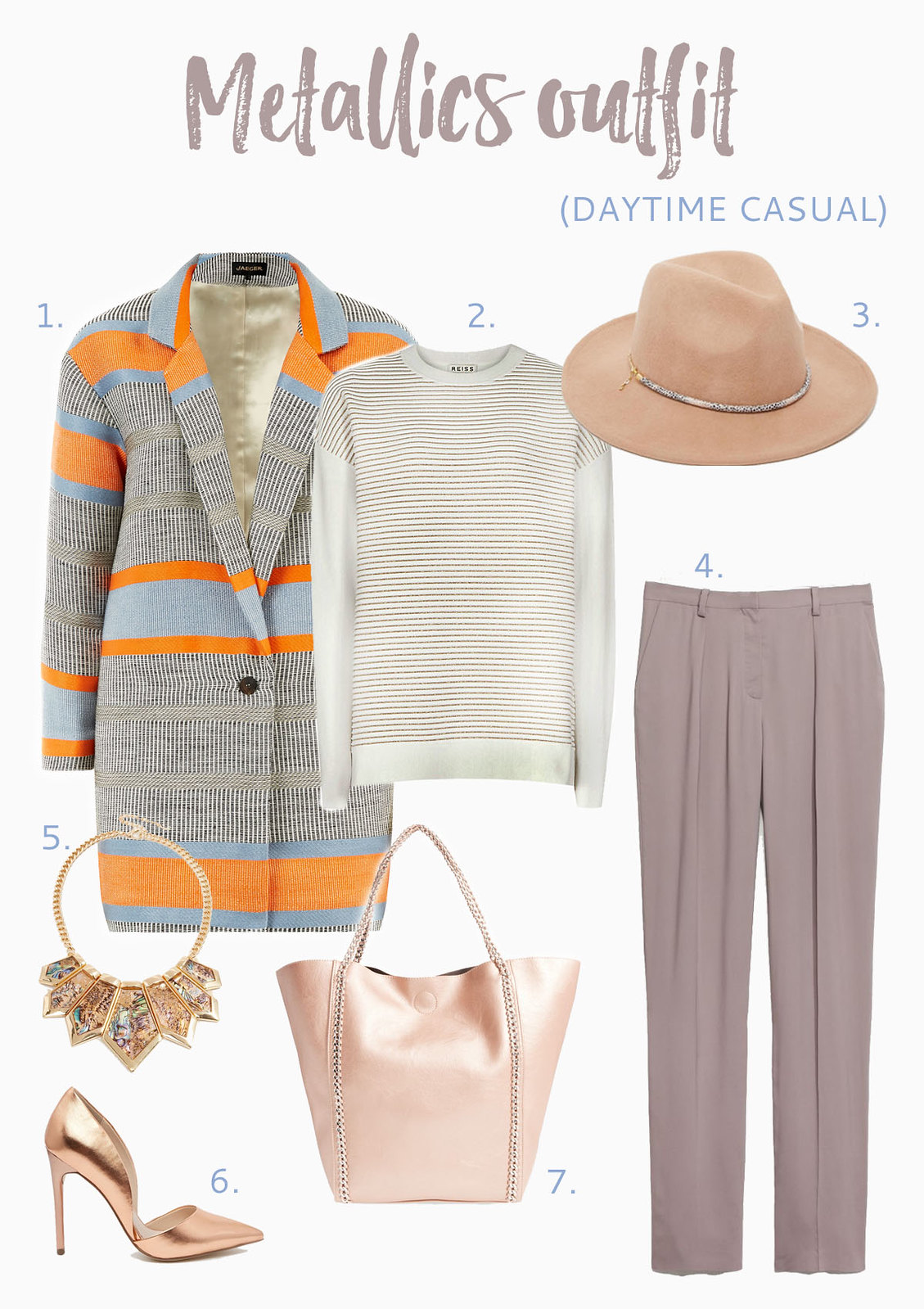 Metallics outfit inspiration | Casual daytime