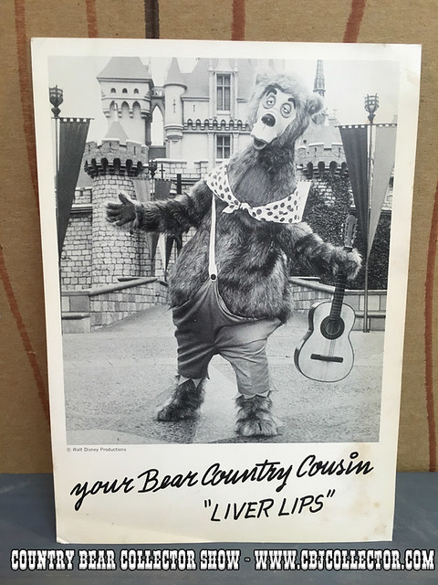 1972 Disneyland Country Bear Liver Lips Promo Photo - Country Bear Collector Show #028