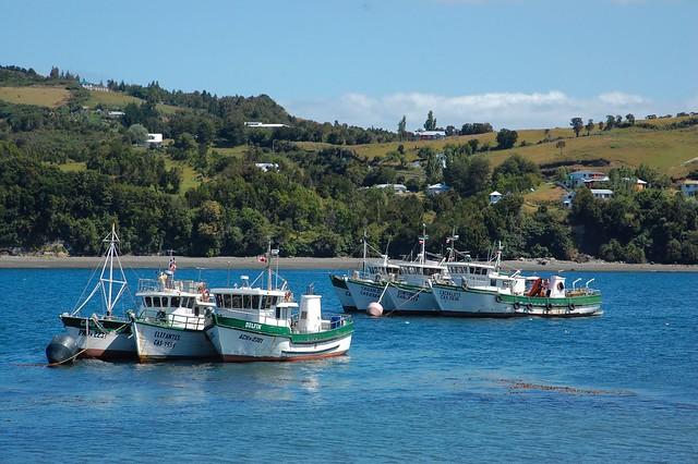 Boats from Dalcahue, Chiloé, Chile