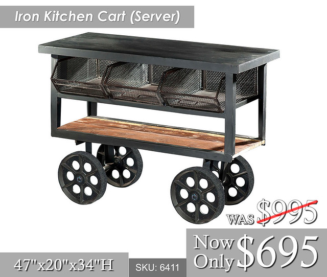 Iron Kitchen Cart Server