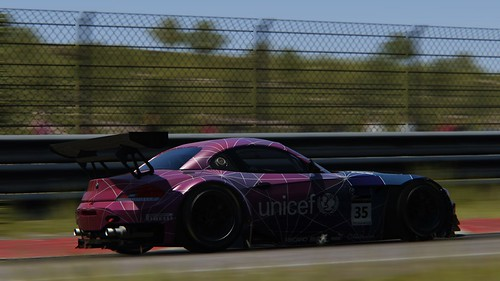 BMW Z4 GT3 - fantasy skin - Unicef - Andy Gilmore - Assetto Corsa (4)