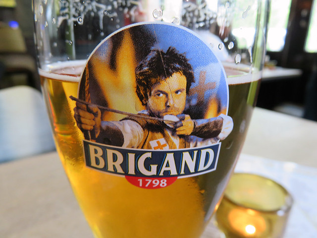 Having a Brigand beer in Ledig Erf Pub in Utrecht, Holland