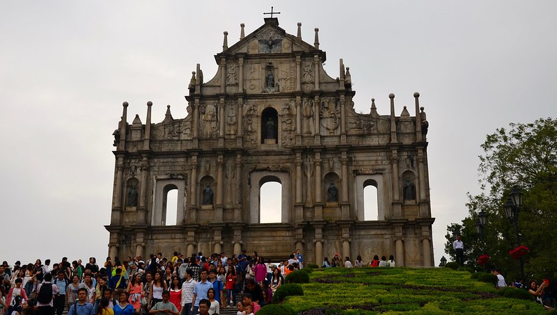 The historical ruins in Macau