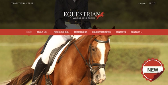 Equestrian v4.2.2 - Horses & Stables WordPress Theme