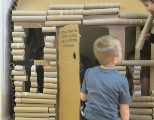 playing the log cabin