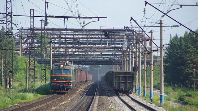 RZD VL85-263. Transsib line, Angarsk, Irkutsk oblast.
