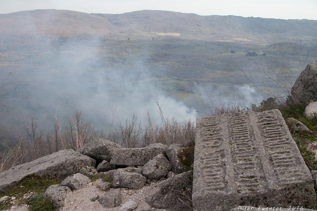 Fuego en Trevejo (Villamiel, Cáceres)