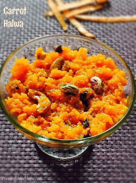 Carrot Halwa Recipe for Toddlers and Kids4