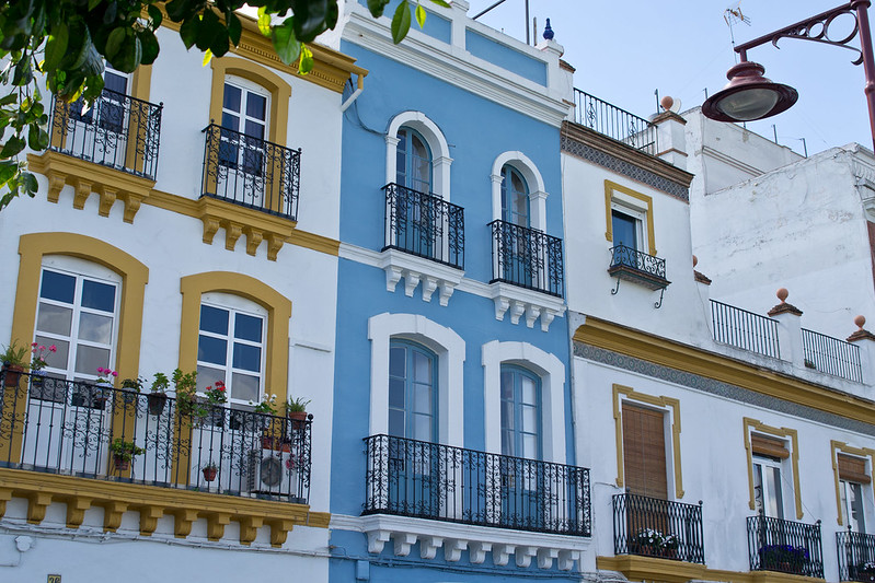 Colourful buildings in Seville