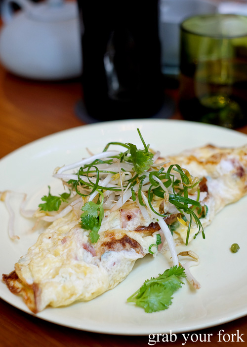 Lightly smoked mackerel omelette at Kensington Street Social in Chippendale