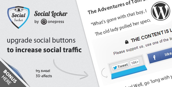 Social Locker v4.5.5 for WordPress