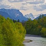 Alphorn, Loferer Steinberge and the Saalach river