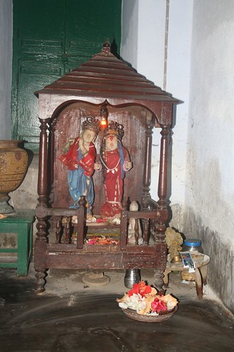 Handcrafted Wooden home Temple of Sarat Chandra in Deulti, Howrah - West Bengal, India