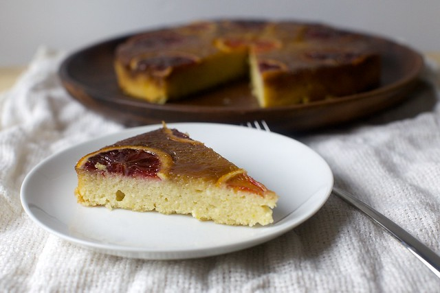 blood orange almond and ricotta cake