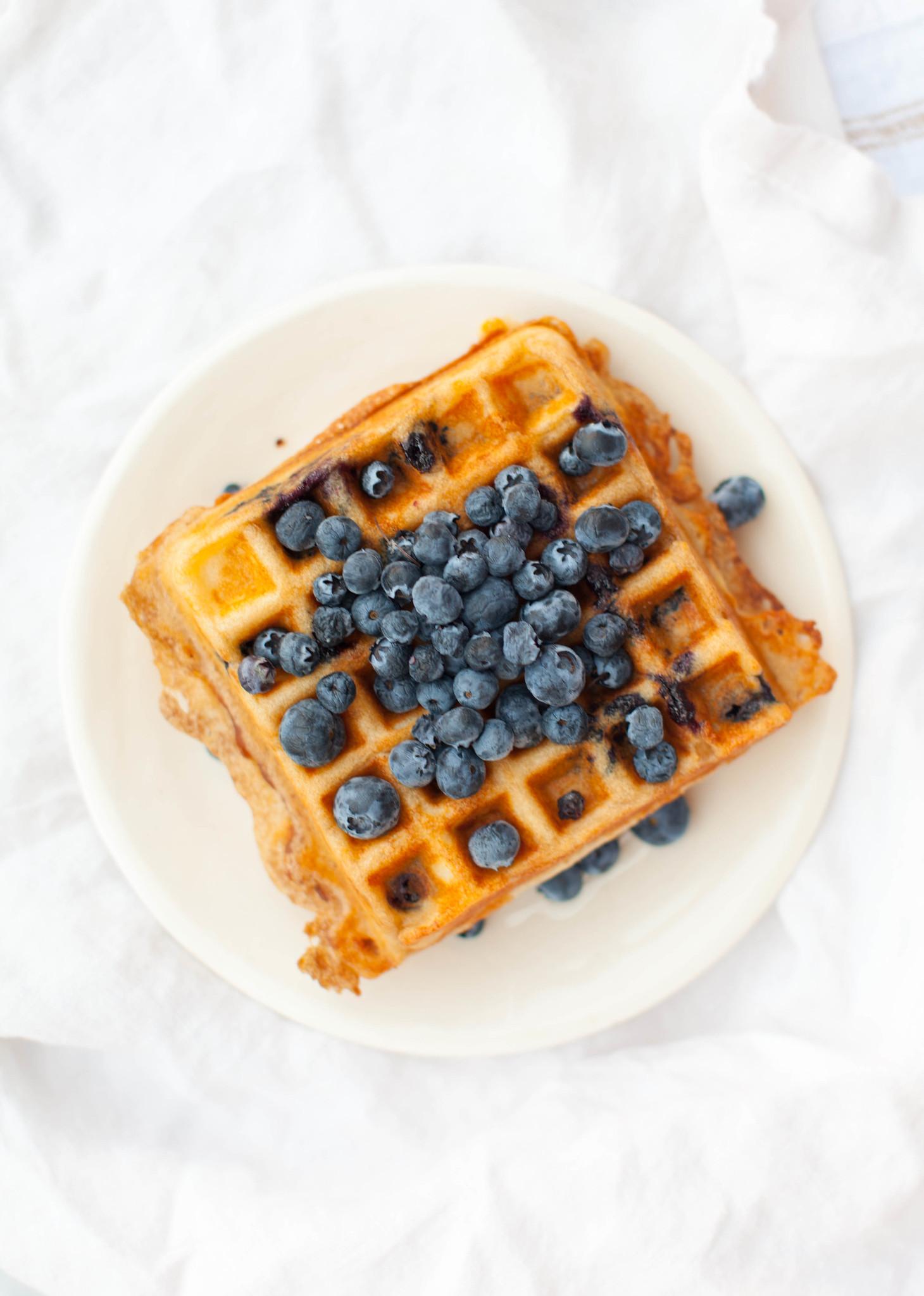 gluten-free blueberry waffles