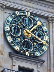 Clock Sculpture, Johann Michael Bossard 1911, Handelskammer in Hamburg Germany
