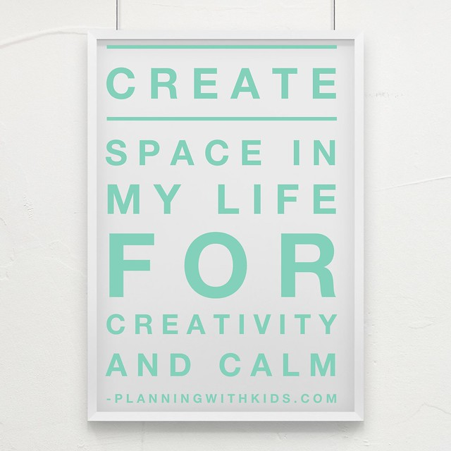 creativity and calm board green