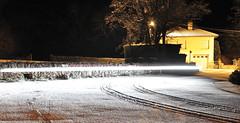 snow and light beam