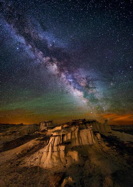 Hoodoos in the Badlands of New Mexico