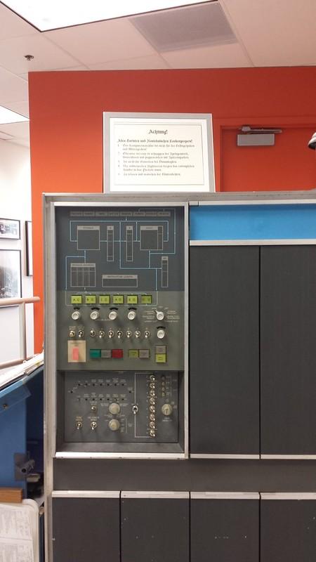 Sign on IBM 1401 demo computer
