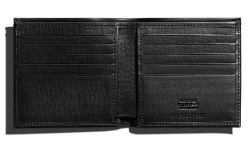 Slim Bifold Wallet in Black ($195) from Shinola