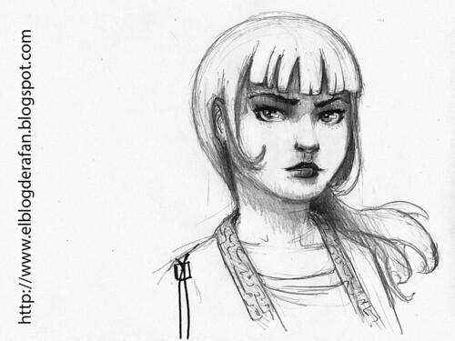chica - boceto