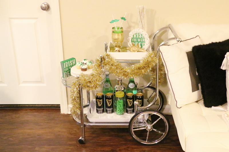 St Paddys Day, bar cart style
