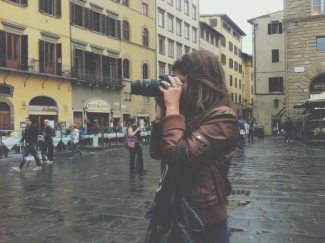 Taking photos in Florence