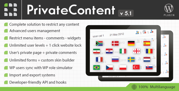 PrivateContent v5.12 – Multilevel Content Plugin