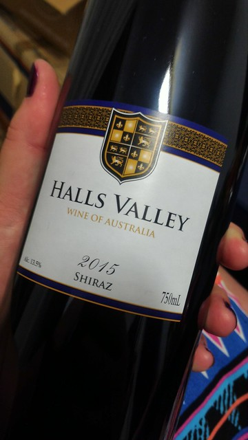 halls valley shiraz
