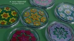 6 Spring mandala coasters