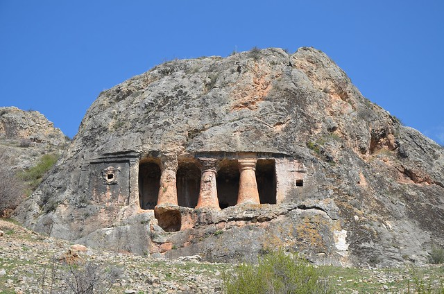 Gerdek Rock Tomb, Hellenistic period, 2nd century BC, district of Çorum, Turkey