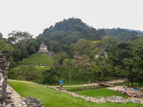 Palenque: vue depuis le Palacio