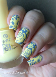 Essence  Love is in the air, Munde de Unas Blue Gray, Uberchic Beauty stamping plate 1-02 | by nataschafrankfurt
