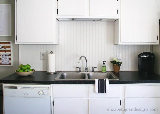 Kitchen Update Laminate Countertops White Beadboard