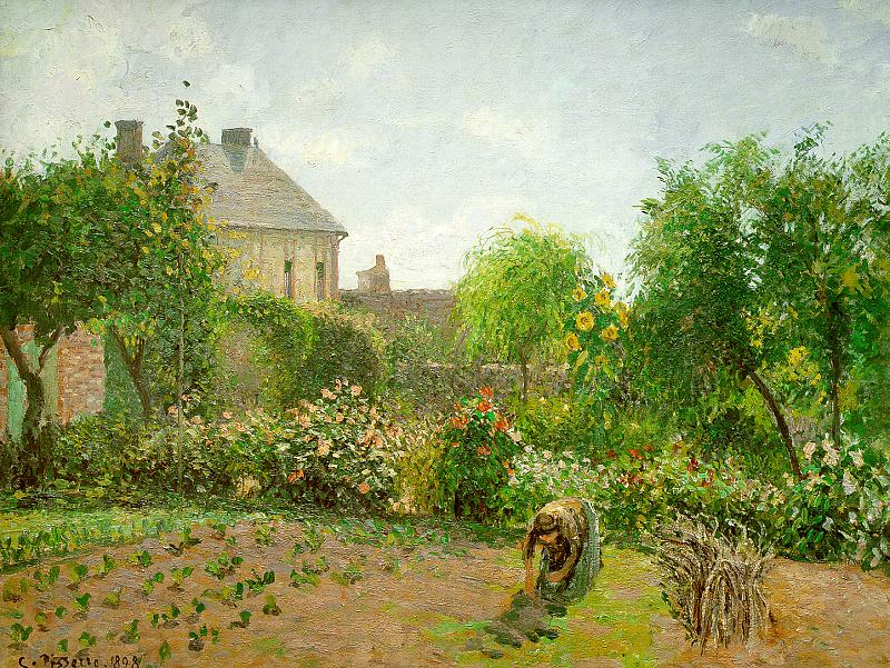 The Artist's Garden at Eragny by Camille Pissarro, 1898