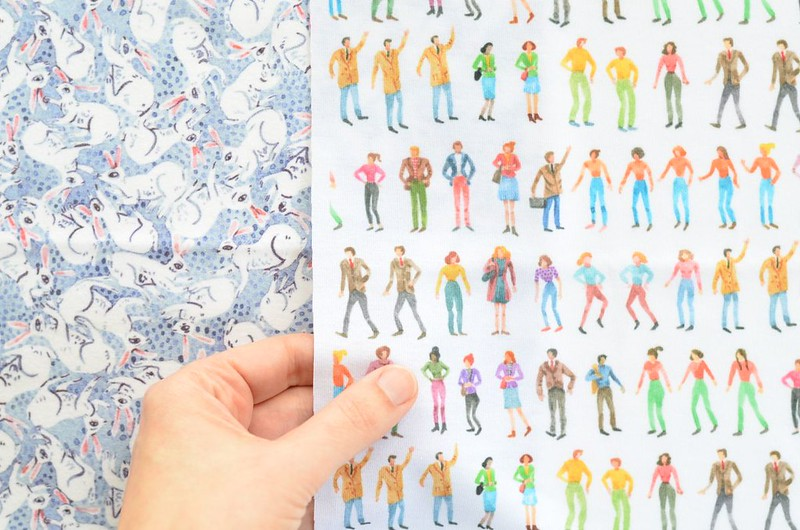 New Fabric Designs: Little City People + Bunny Tumble
