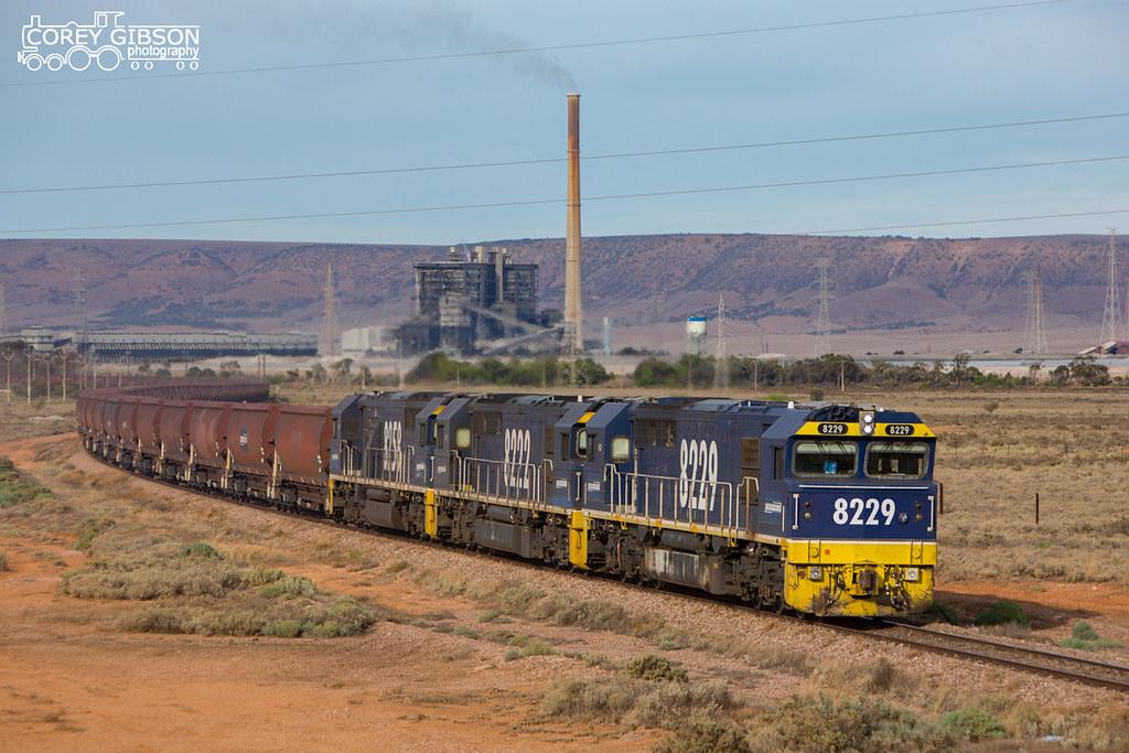 Leigh Creek Coal Train by Corey Gibson