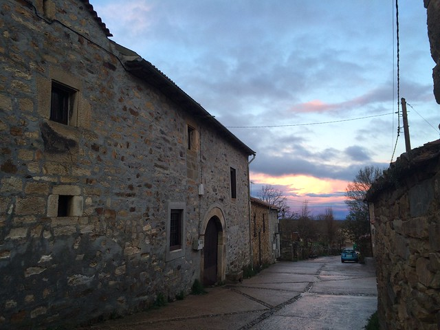 Sunset over Rabanal del Camino
