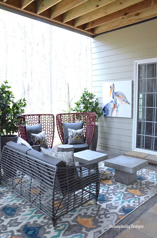 Basement Level Porch - 2016 HGTV Smart Home - Housepitality Designs