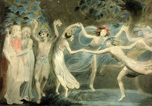 Oberon, Titania and Puck with Fairies Dancing. By William Blake