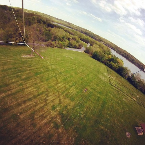 I rubber banded my GoPro to my 6' stunt kite.