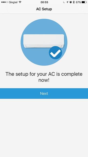tado iOS App - AC Setup - Done
