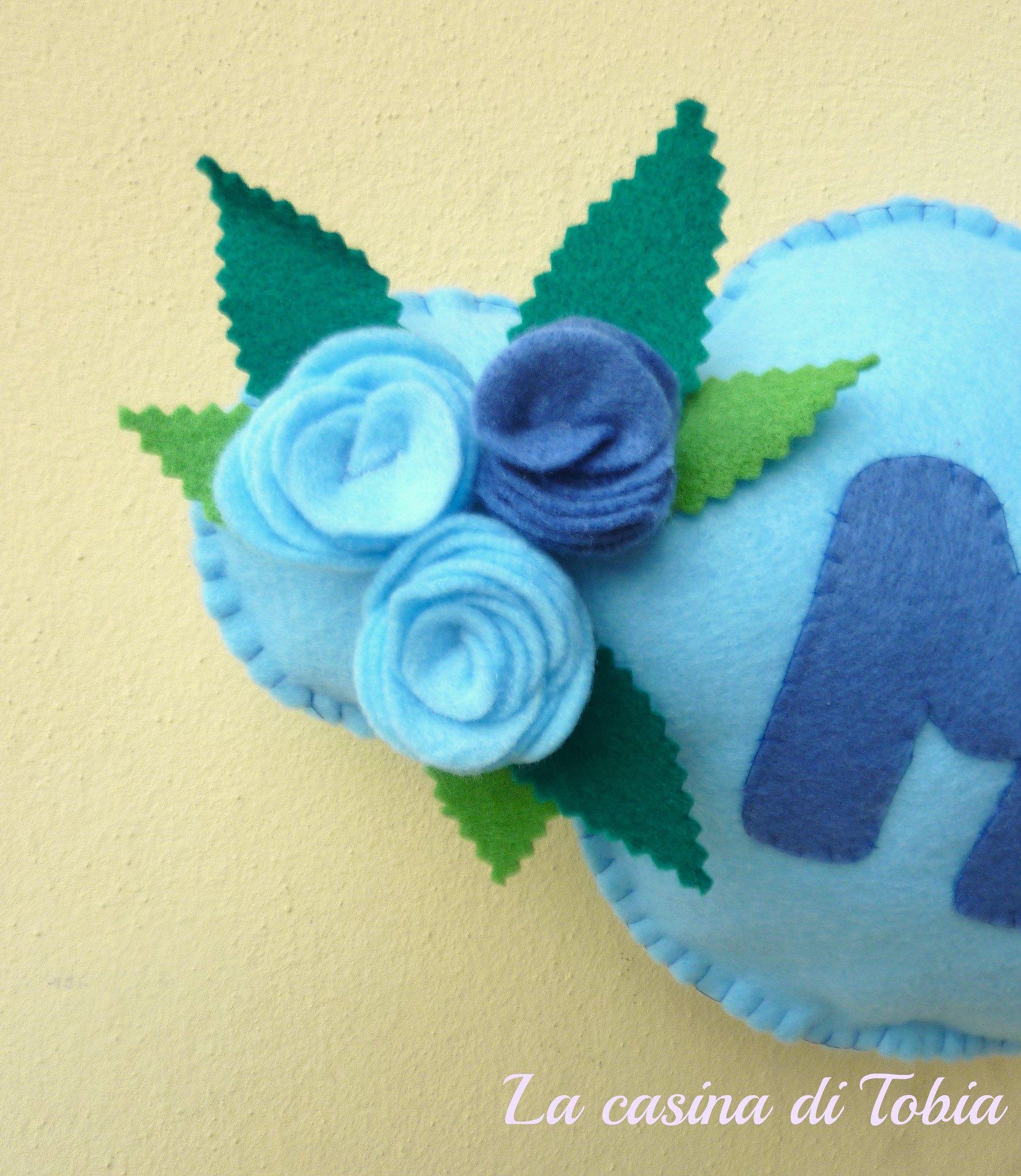 Fiocco nascita bambino bambina personalizzati feltro fatti a mano