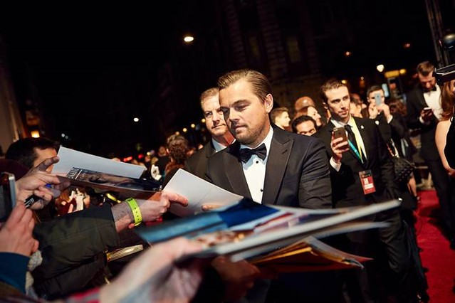 Leonardo DiCaprio at The BAFTA film awards 2016 © BAFTA 2016. Photo by Jonny Birch