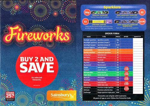 Sainsbury's 2015 Mammoth Sparklers £1.00