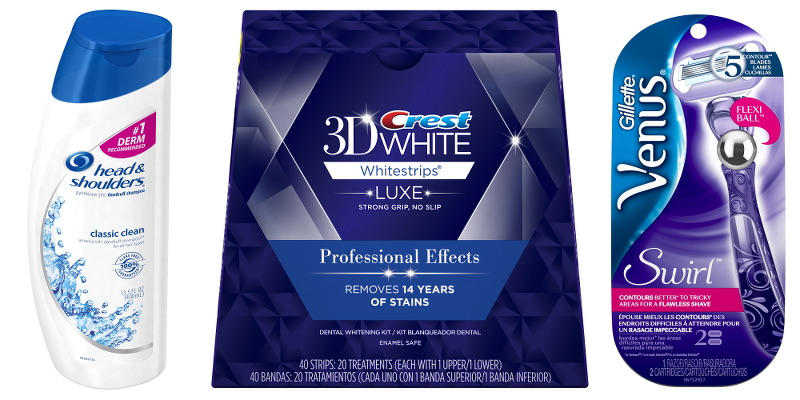 Head and Shoulders shampoo, conditioner, Crest 3D whitestrips, Gillette Venus razor, Grooming, Beauty, Procter Gamble