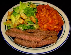 Argentinian Style Bison Flank Steak with Pinto Bea…