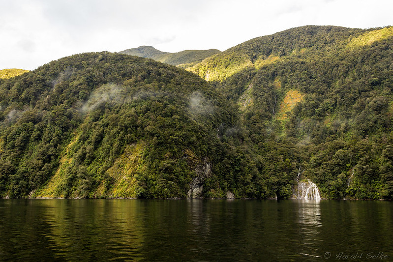 Waterfall in Doubtful Sound
